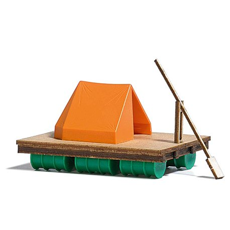 Wooden Raft And Tent